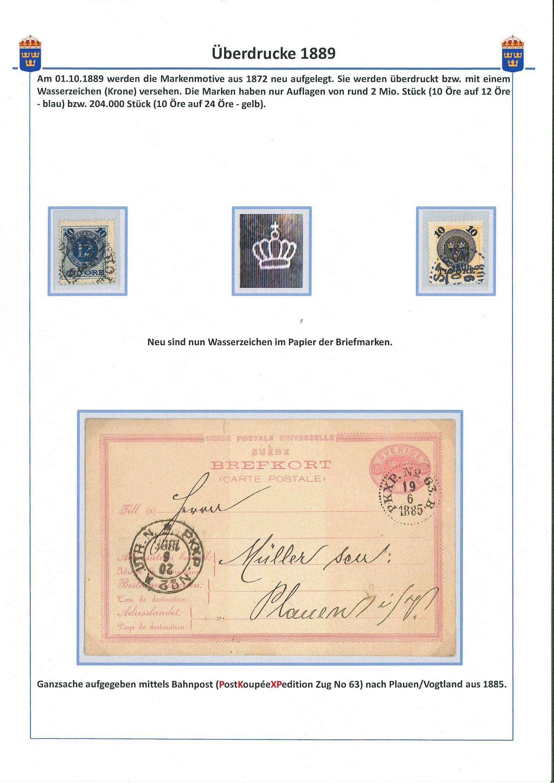 Überdrucke  1889