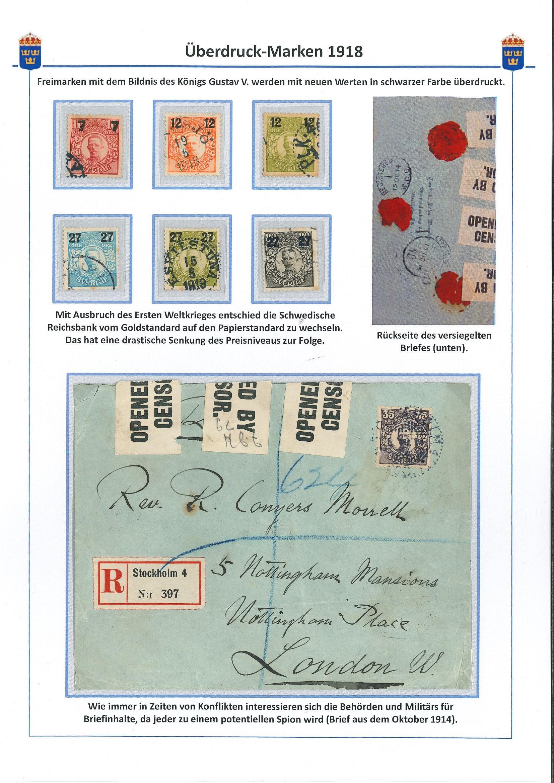 Überdruckmarken 1918
