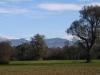 Blick auf die Berggipfel