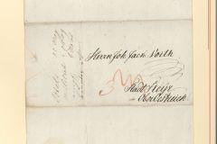 Österreichischer Tarif Auslandsbriefe 1806-1810