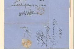 Einfacher Portobrief 1860