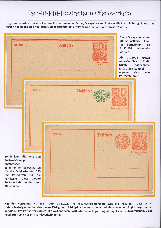 Postreiter im Fernverkehr (40 Pfg)