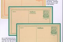 Post- und Antwortkarten