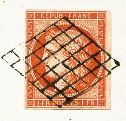 Rautengitterroststempel (Frankreich)