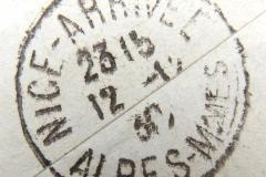 Kreisstempel mit 3 Zeilen für Datumsanzeige