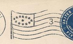 Flaggenstempel Vereinigte Staaten von Amerika